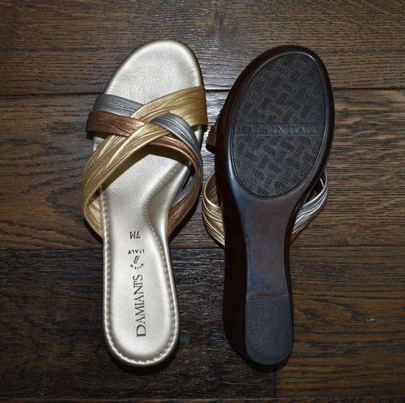 d7a5c08341 Damiani's Shoes   Damianis Gold Size Sandal Size 7   Poshmark